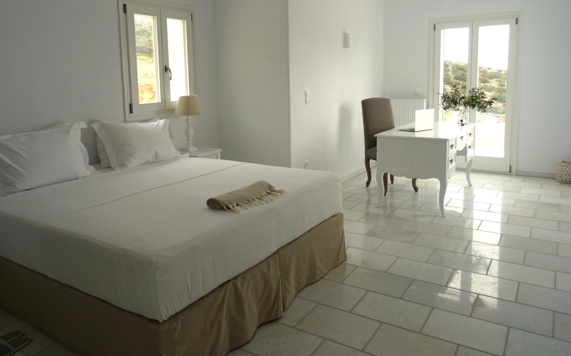 One of the Bedrooms of Artemis Villa in Antiparos